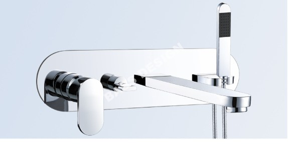 Wall mounted bathroom taps