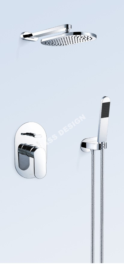Shower mixer with diverter,wall mounted bath shower mixer China manufacturer factory