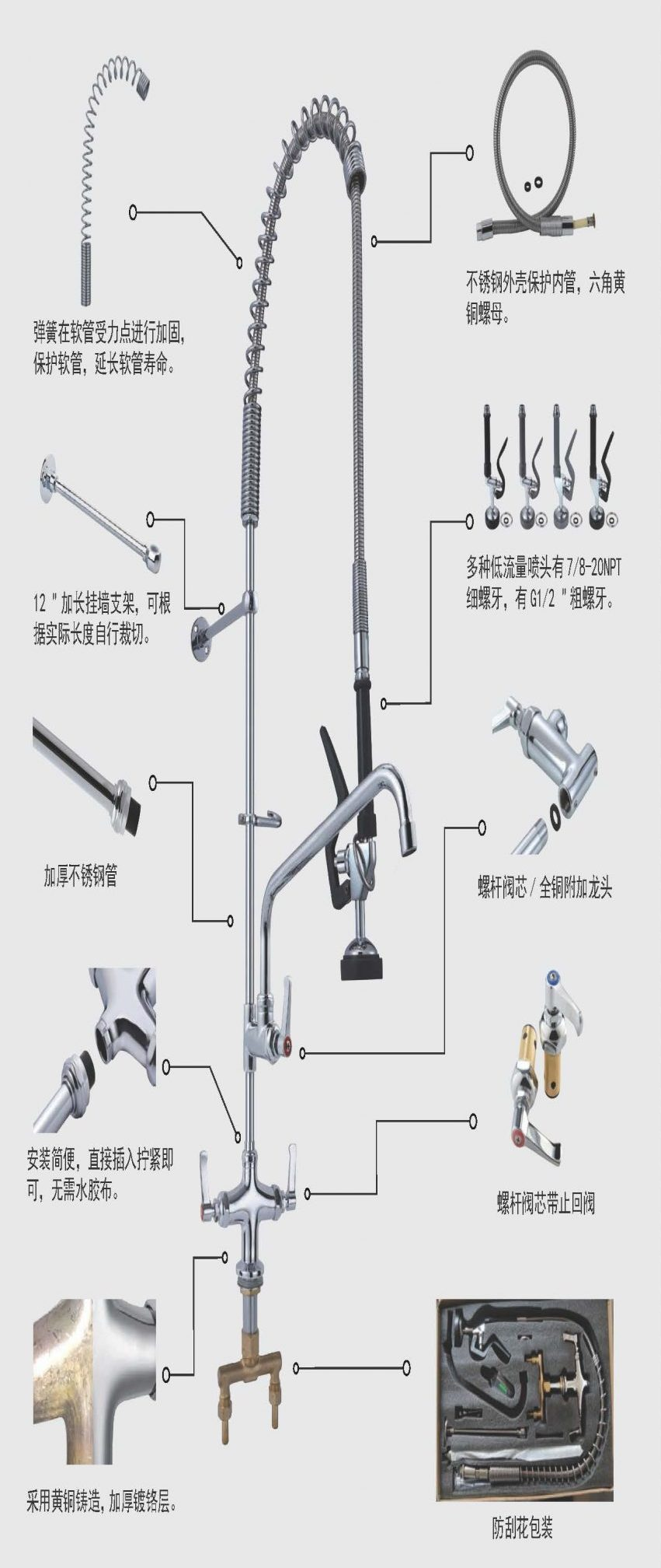 double handle basin faucet