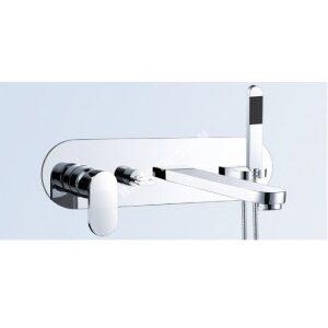 Wall-mounted bathroom taps