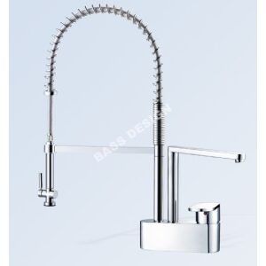 Pull out kitchen taps