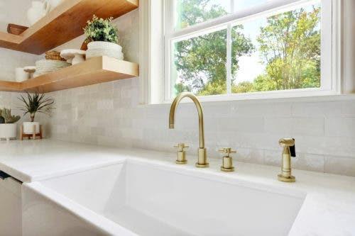 brass faucet gold